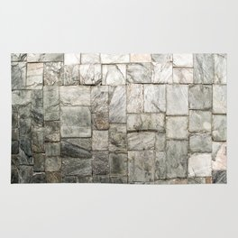 Grey Cold Stone Masonry Wall Rug