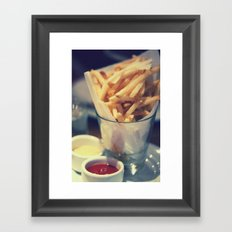 At the Diner Framed Art Print