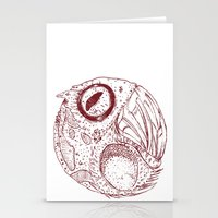 ying yang Stationery Cards featuring ying yang by Tapioles II