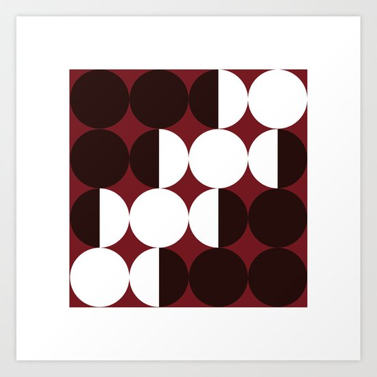 #384 Four months – Geometry Daily Art Print