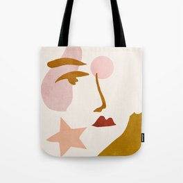 Abstraction_Minimalist_Face Tote Bag
