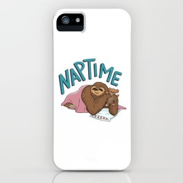 Nap Time Sloth iPhone Case