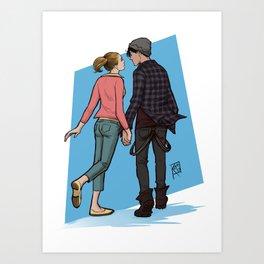 Bughead holding hands Art Print
