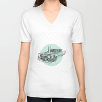 steam punk V-neck T-shirts featuring Steam punk by grop