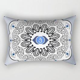 Third Eye Chakra Mandala Rectangular Pillow