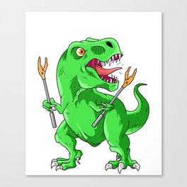 Funny Trex Birthday Costume Dinosaur Canvas Print