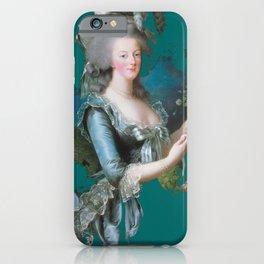 marie Antoinette teal iPhone Case