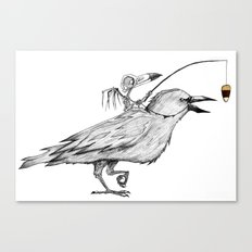 Bird Brain Canvas Print
