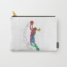 Basketball Girl Player Sports Art Print Carry-All Pouch