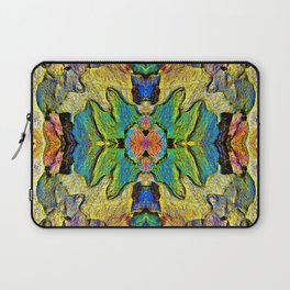 Colorful  Nature Wood Pattern Psychedelic Art Laptop Sleeve