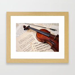 Violin music and notation Framed Art Print