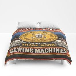 Vintage poster - Singer Sewing Machine Comforters