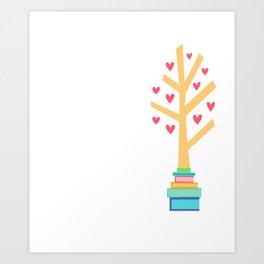 Book Lover Reading Book Reader Gift design Art Print