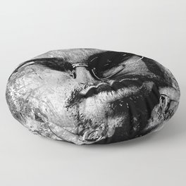MALCOLM X (BLACK & WHITE VERSION) Floor Pillow
