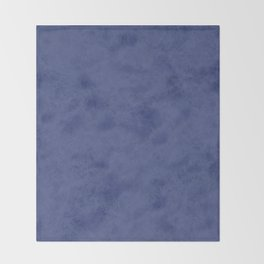 Blue suede Throw Blanket