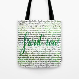Front row green Tote Bag