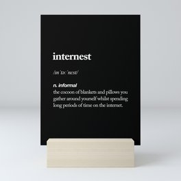 Internest black and white modern typography quote bedroom poster wall art home decor Mini Art Print
