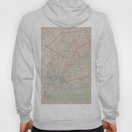Vintage Map of Westchester County NY (1893) Hoody