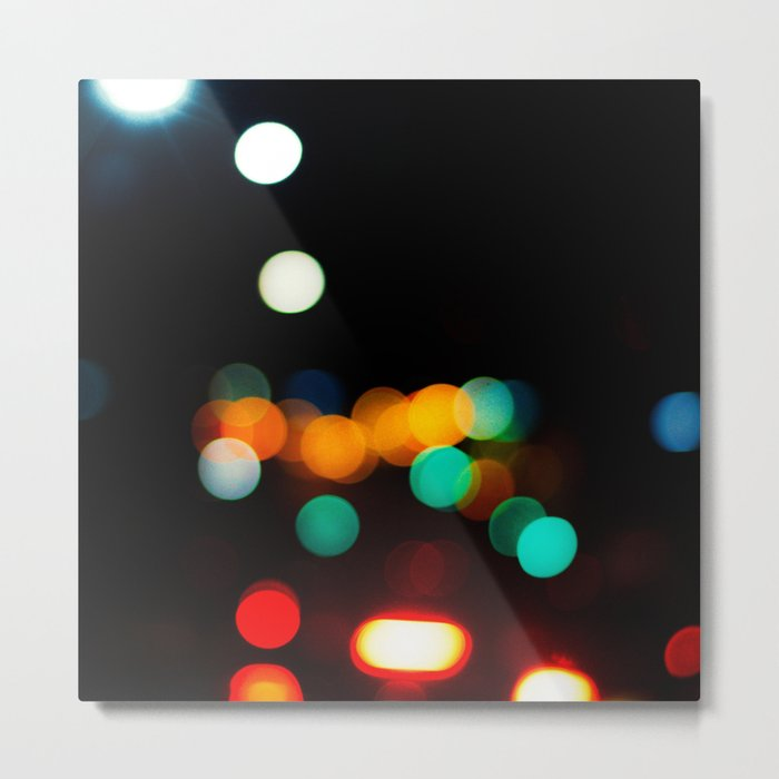 Blurred City Lights Metal Print