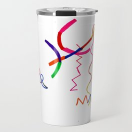 Funky Way Doodle Travel Mug