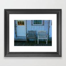 Dock Chairs Framed Art Print