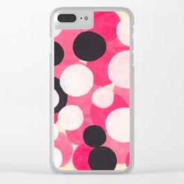 Bubblegum Pink Colorful Bubble Pattern Clear iPhone Case