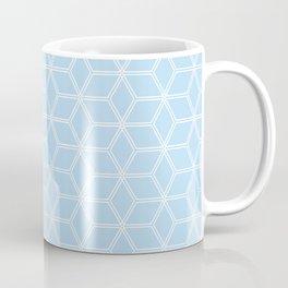 Geometric Hive Mind Pattern - Light Blue #280 Coffee Mug