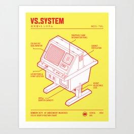 ARCADE CAB - VS.SYSTEM Art Print