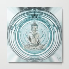 Serenity Meditation Bubble Metal Print
