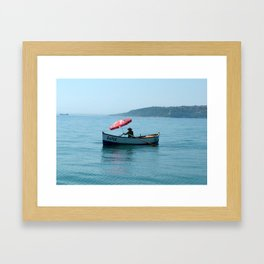 One Man and His Boat Framed Art Print