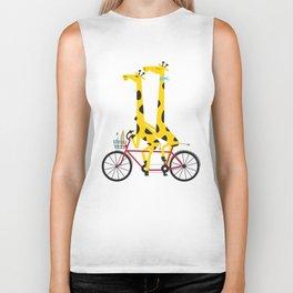 Tandem Giraffes Biker Tank