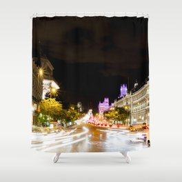 Madrid streets Shower Curtain