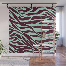 turquoise zebra Wall Mural