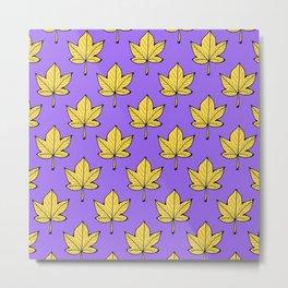 Lilac Leaves Metal Print