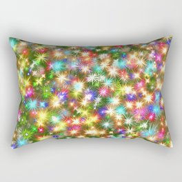 Star colorful christmas abstract Rectangular Pillow