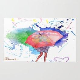 Rain Paint Rug