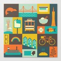 san francisco Canvas Prints featuring San Francisco by Ariel Wilson