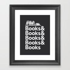 Books & Books & Books Framed Art Print