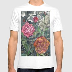 Beautiful Roses Mens Fitted Tee White MEDIUM