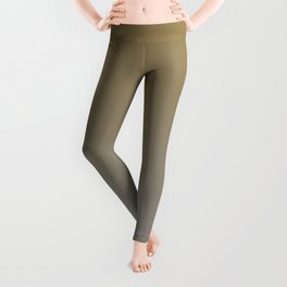 Gray Brown Ombre Gradient Blend 2021 Color of the Year Ultimate Gray & Accent Shade Leggings