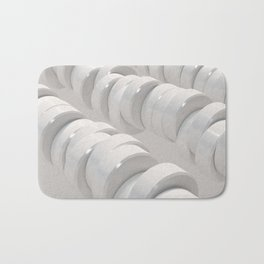 Pattern of white cylinders Bath Mat