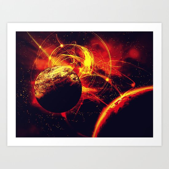 Space is on Fire Art Print