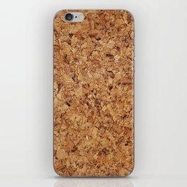 Cork pattern iPhone Skin