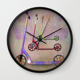 stillife with scooters Wall Clock