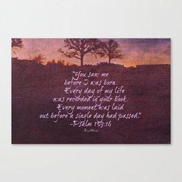 Psalm 139 Canvas Print