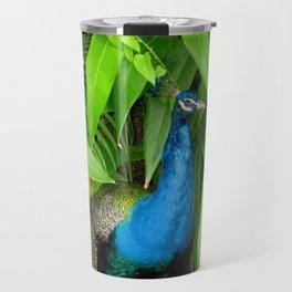 Bird | Birds | Peacock Amongst the Leaves Travel Mug