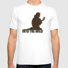 INTO THE WILD SMALL Mens Fitted Tee White