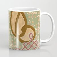 art nouveau Mugs featuring Art Nouveau by Nacho Filella Design