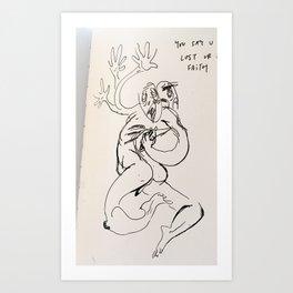 Guh Art Print