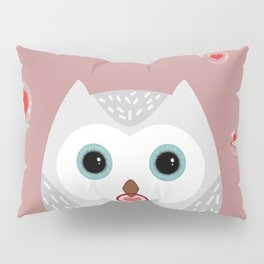 OWL, LOVE & BUBBLES (valentine animals heart) Pillow Sham